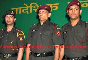 Famous Personalities of Territorial Army