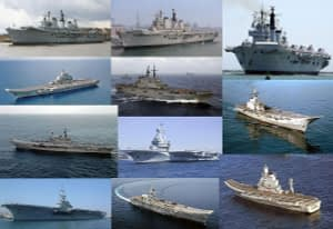 Few Aircraft Carriers Around The Globe