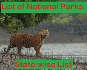 List of National Parks of India