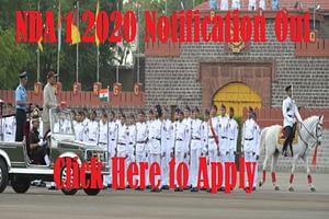 NDA 1 2020 Notification Out