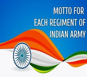 Indian Army Regiment Mottoes