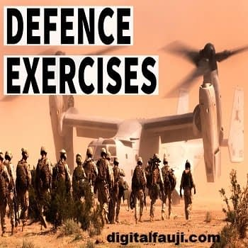 List of all Important Military Exercises of Indian Armed Forces