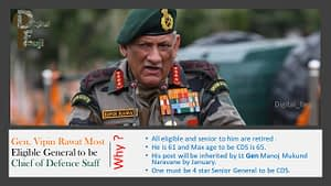 COAS General Bipin Rawat Appointed as India's 1st Chief of Defence
